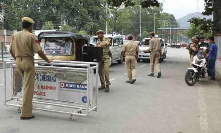 restrictions in srinagar ahead of pm narendra modi visit