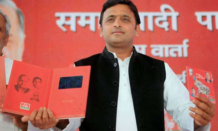 sp unveils party manifesto promises muslim quota