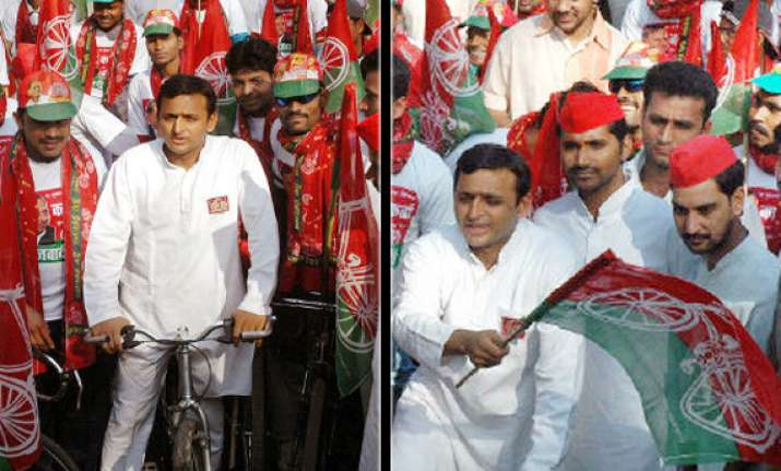 sp poll campaign launched from noida