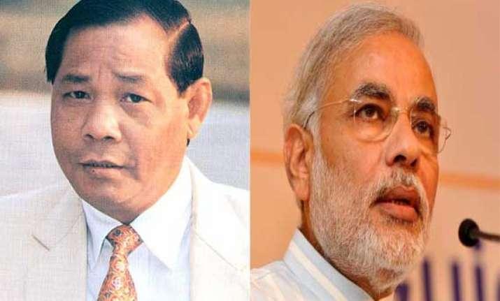 sangma calls on modi