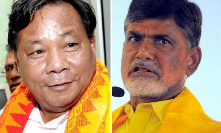 sangma seeks chandrababu s support for presidential poll