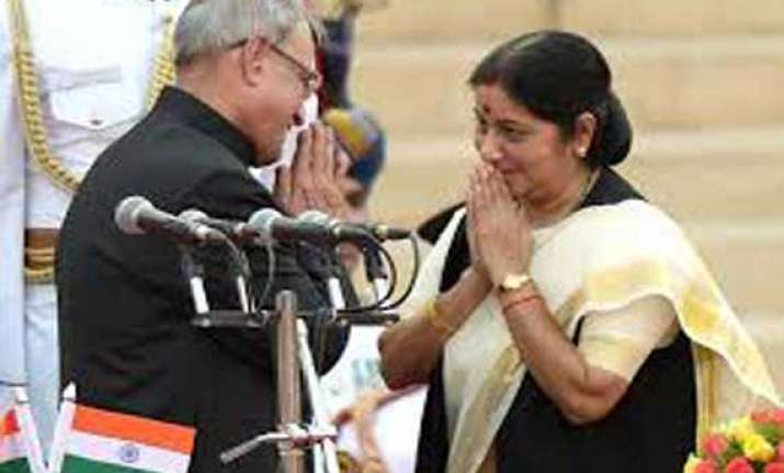 sushma swaraj first woman to get external affairs portfolio