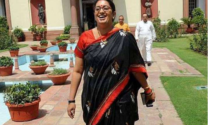 smriti row overshadows modi government s second day in