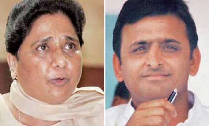 son has more venom than father mayawati on akhilesh