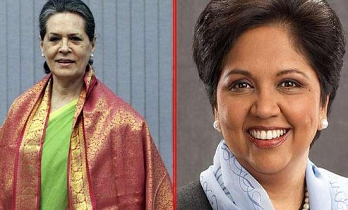 sonia gandhi indra nooyi among world s 10 most powerful