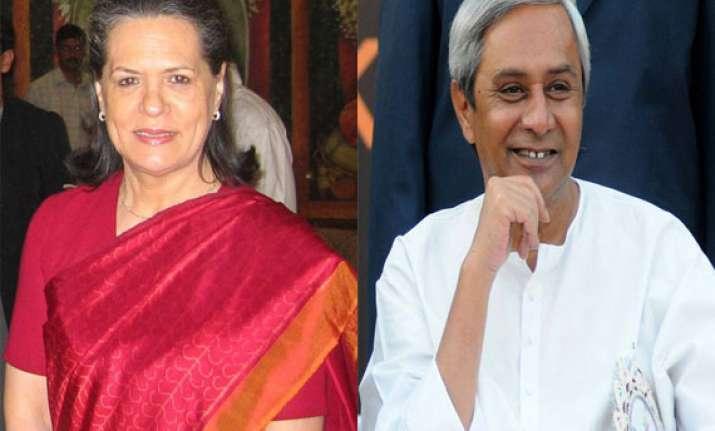 sonia gandhi refutes naveen s allegation of central