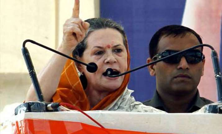 live bjp misleading people to grab pm s chair says sonia at