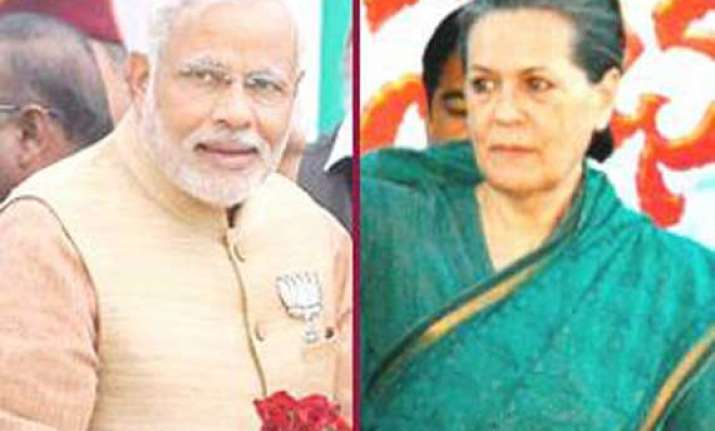 sonia hits out at modi for dragging rajiv s name in