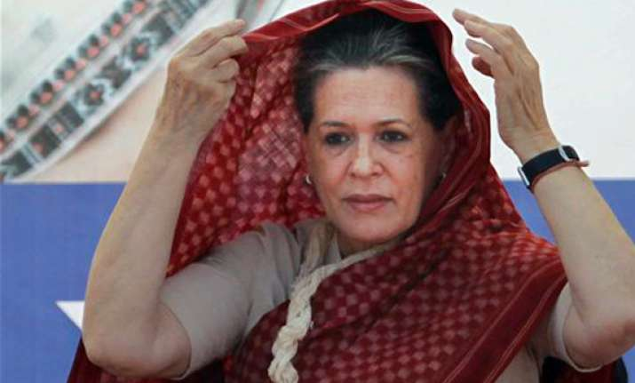 sonia visits sample house that congress has promised to