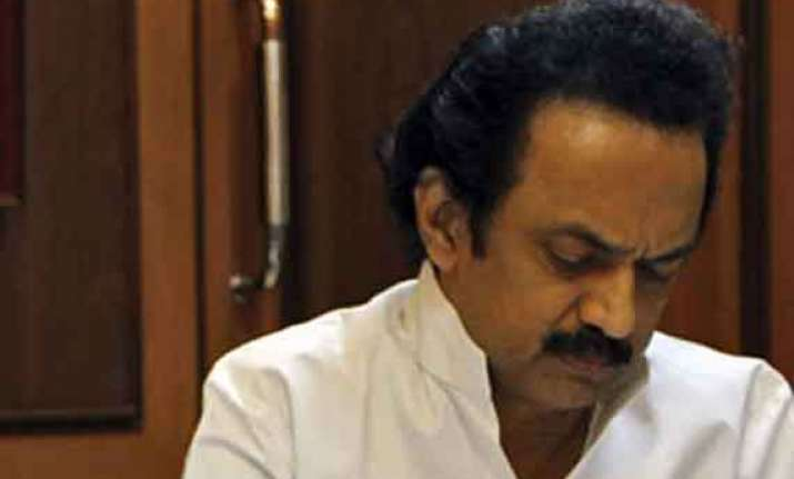 dmk s rout in polls stalin withdraws his resignation