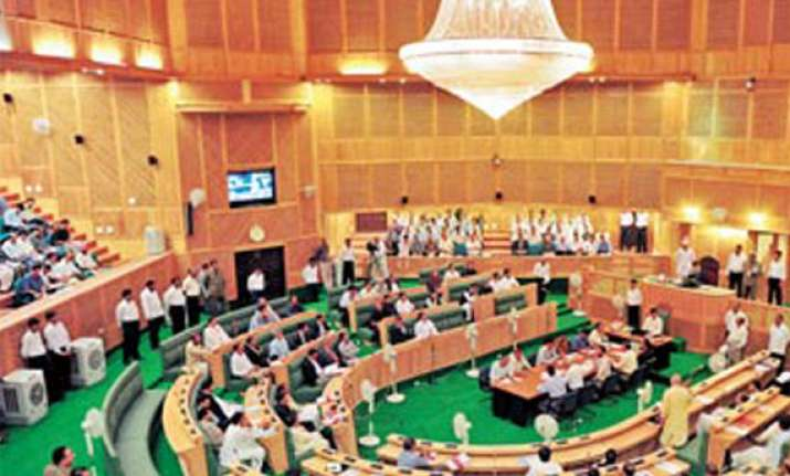stormy start to jammu and kashmir budget session
