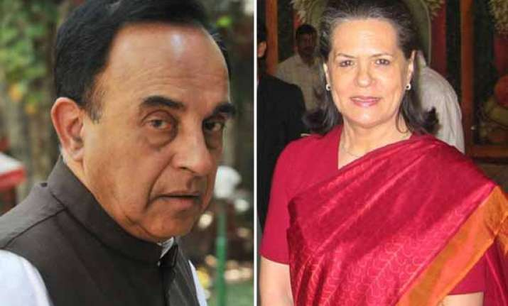 subramanian swamy alleges sonia is openly seeking votes in