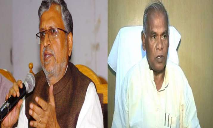 sushil modi urges manjhi to attend narendra modi s swearing