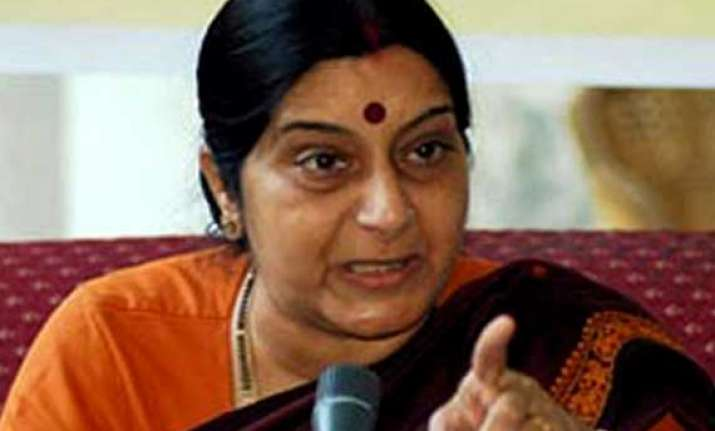 sushma swaraj blames congress for parliament disruptions