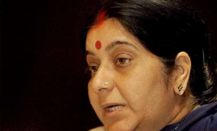 sushma swaraj demands help for athlete s family