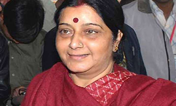 sushma swaraj opposes mining barons party merger with bjp