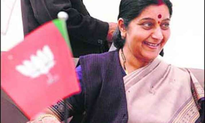 sushma lauds leadership quality of narendra modi