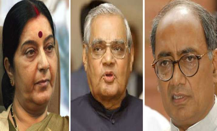sushma like vajpayee deserves to be pm says digvijay singh