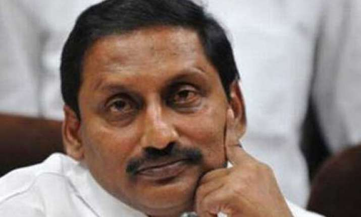 telangana andhra cm kiran reddy may quit today
