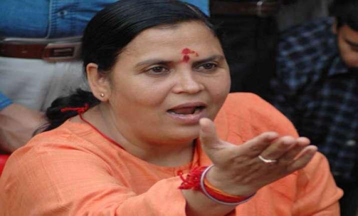 uma bharti asks ec to act against dissemination of video