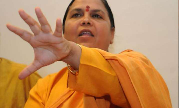 uma bharti tells rajnath she will support all decisions
