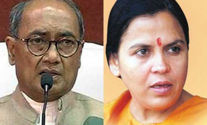 uma can t regain her position in bjp says digvijay