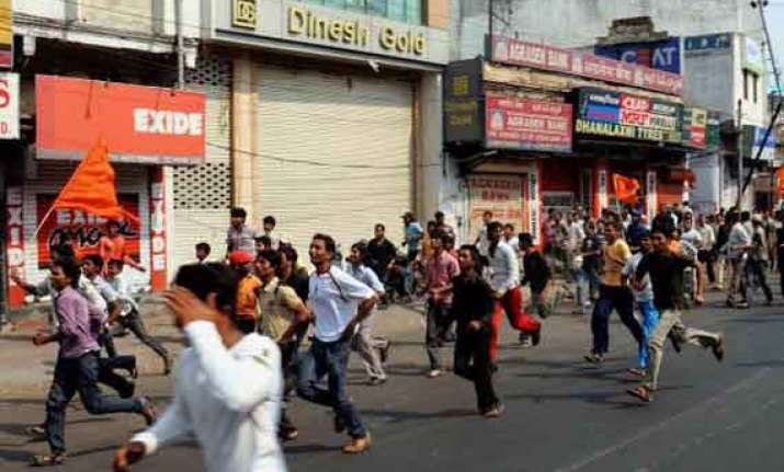 uneasy calm in riot hit parts of hyderabad
