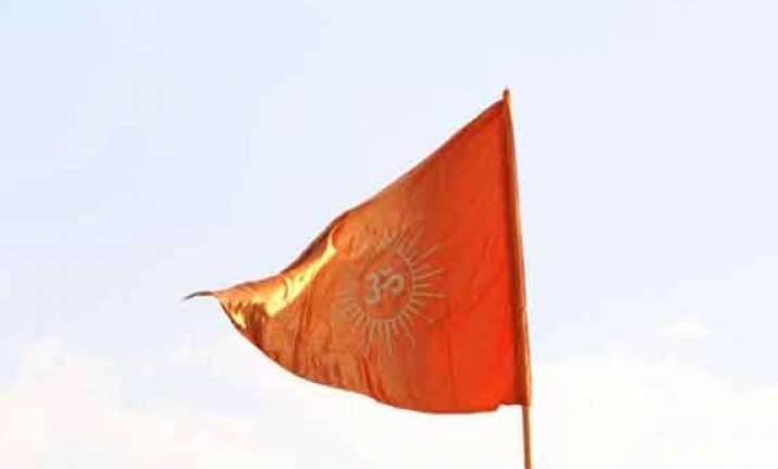 uproar in ls as sena mp says saffron flag to be hoisted