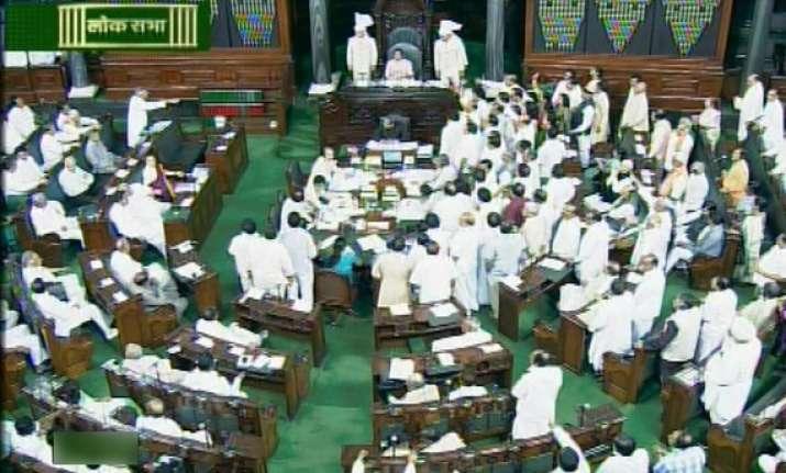 uproar in parliament over hyderabad blasts