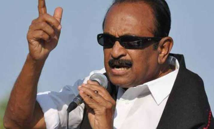 vaiko detained for protesting against rajapaksa s visit