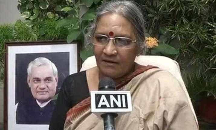vajpayee s niece karuna shukla resigns denied bjp ticket