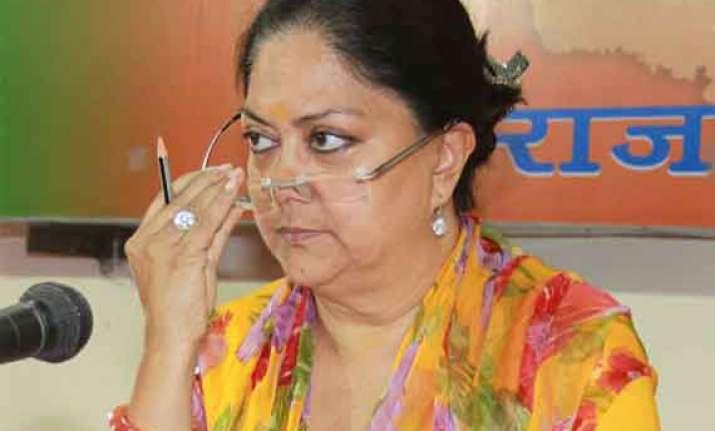 vasundhra raje clarifies bjp s stand on mgnrega says she s