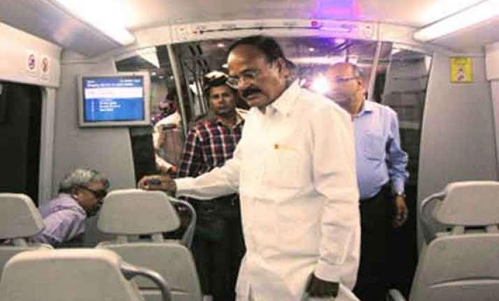 venkaiah naidu to use airport metro from now on