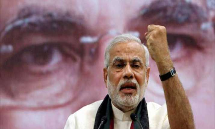 vote for bjp to secure your future modi tells youths
