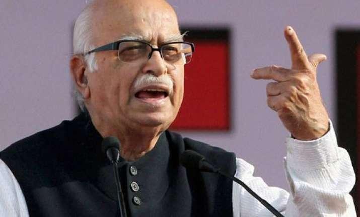vote for change vote for modi says advani