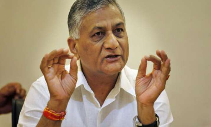 will fulfil promises made during poll campaign v k singh