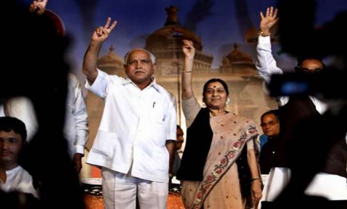 yeddy endorses swaraj