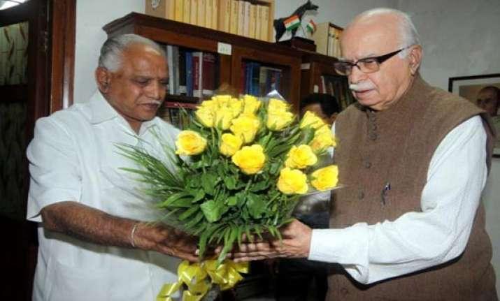 yeddyurappa writes to advani wants to join nda