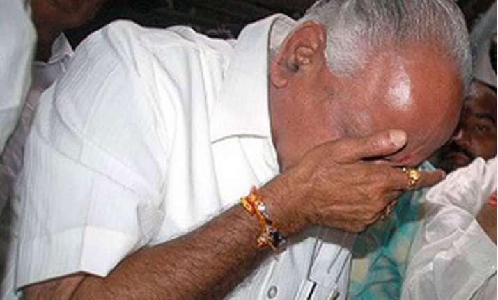 yeddyurappa in tears as he quits bjp
