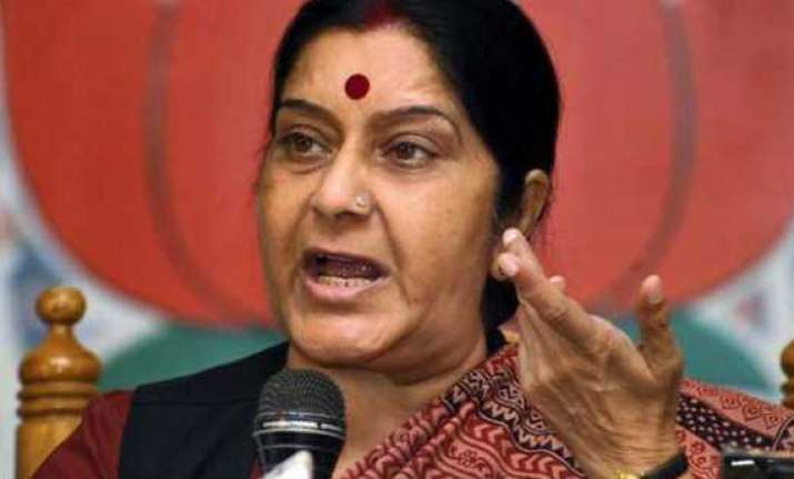 youth congress protests signs of desperation sushma swaraj