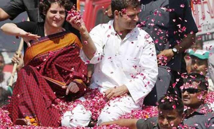 in pics priyanka gandhi campaigns for rahul gandhi in amethi