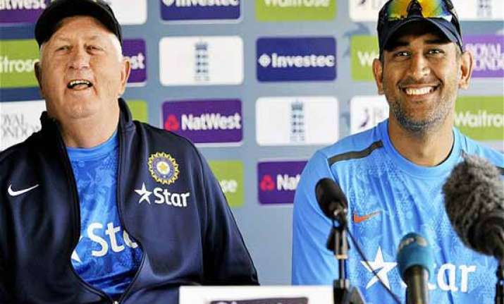 boss fletcher will lead india into world cup dhoni