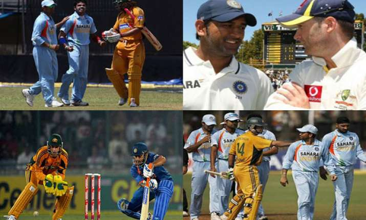 a quick look at india australia rivalry on the cricket field