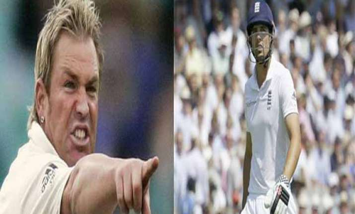 alastair cook s harshest critic shane warne makes peace ex
