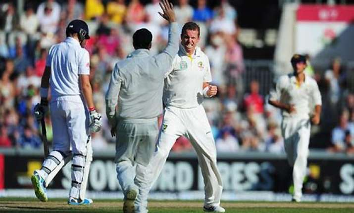 ashes england slips deeper into trouble at 119 4