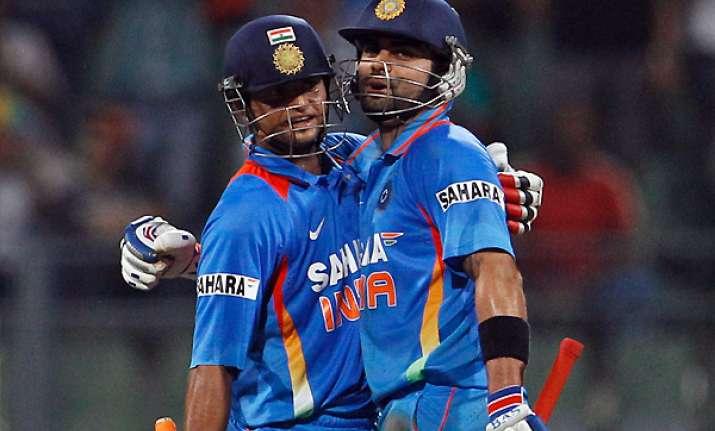 raina kohli set up 6 wicket win for india