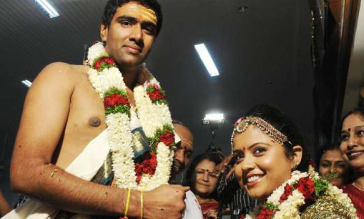 ashwin ties the knot in low key ceremony