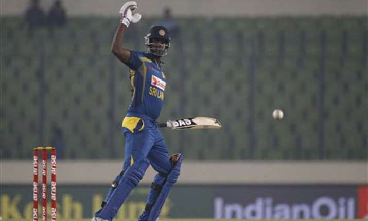 asia cup skipper mathews guides sri lanka to win over