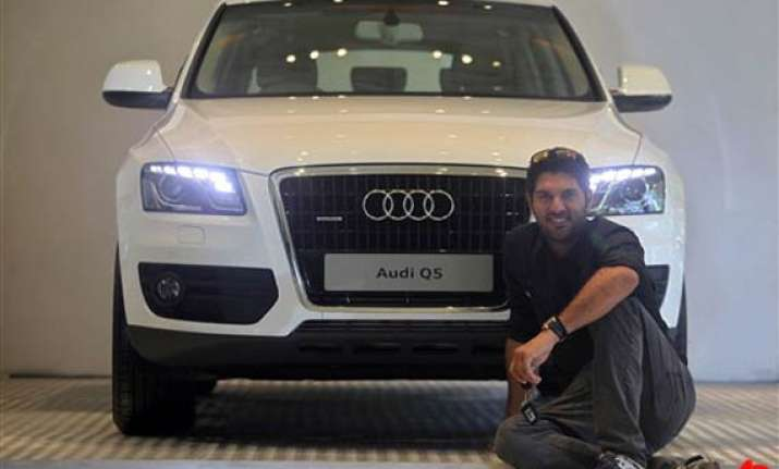audi presented to yuvraj for world cup performance