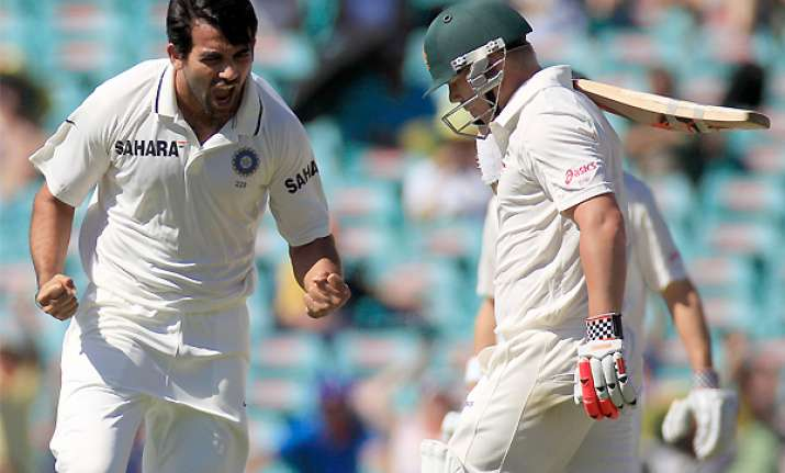 aussie batting can be put under pressure zaheer
